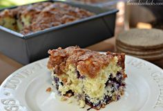 Blueberry Brunch Cake- The Cookin' Chicks