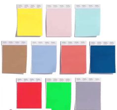 Top 10 colors for this upcoming Spring!!!  From left to right: Buttercup, Rose…