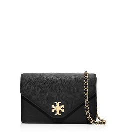 077fdc27c82a KIRA ENVELOPE CROSS-BODY - BLACK GOLD Tory Burch Bag
