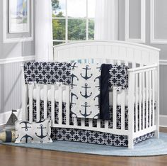 Discover the absolute best nautical crib bedding sets and beach crib bedding sets. You have tons of coastal, ocean, and nautical crib bedding for a nursery. Nautical Baby Bedding, Baby Girl Crib Bedding, Baby Bedding Sets, Nautical Nursery, Baby Boy Rooms, Nursery Bedding, Baby Boy Nurseries, Nursery Room, Bedding Shop