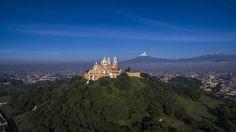 La Gran Pirámide de Cholula en Puebla. | 32 Imágenes aéreas que te enamorarán por completo de México