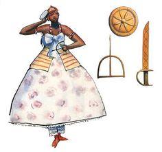Obá, orixá feminino do rio Oba, uma das esposas de Xangô juntamente com Oxum e Iansã. Obá . linhadasaguas.com.br