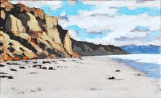 Blacks Beach Bluffs Large Original Oil Painting by KevinInmanArt, $760.00