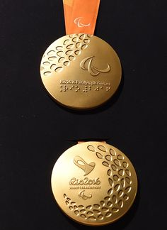 Rio 2016 Paralympics Launch Special Medals To Cater To Visually Impaired Athletes Olympic Medals, Olympic Team, Olympic Games, Olympic Winners, Sports Sites, Trophy Design, Asian Games, Commonwealth Games, Buttons