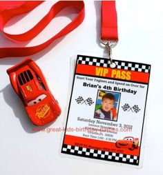 Cars theme invitations