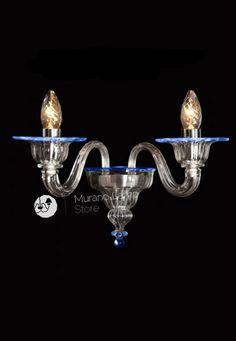 """""""Pantaloncino"""" #Murano #glass #wall #lamp #light #design #venetian #handcrafted #Muranolampstore https://www.muranolampstore.com/en/murano-glass-wall-lamp-pantalonicino"""