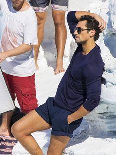 David Gandy's Ocean Side Photoshoot For Dolce & Gabbana