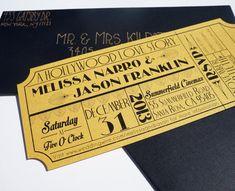 Vecchia Hollywood Art Deco film oro biglietto di brighteyedbirdie