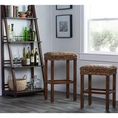 Shop for Micu Rattan 30-inch Backless Barstool by Kosas Home. Get free shipping at Overstock.com - Your Online Furniture Outlet Store! Get 5�0in rewards with Club O! - 17311138