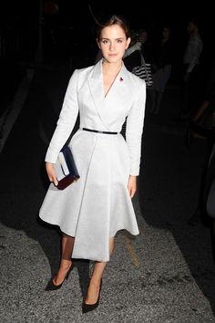 Best dressed - Emma Watson in a Dior coat dress