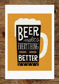 Craft Beer Beer Makes Everything Better Mug Pint by groovygravy