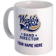 Cafepress Personalized Band Director Mug, Multicolor