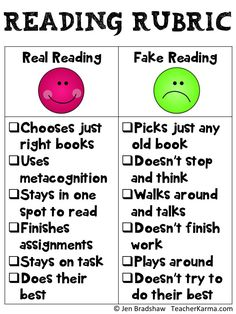 Real reading rubric.                                                                                                                                                                                 More
