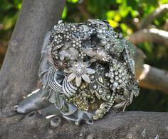 Silver Jewellery Wedding Bouquet