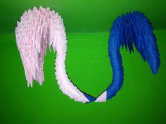 Origami swan kiss
