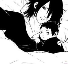 Sasuke and sarada selfie