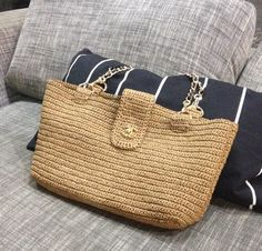 Items similar to Crochet bag, raffia bag, bud pattern, everyday bag, beach bag on Etsy