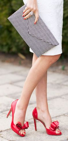 Valentino Red Couture Bow d'Orsay Pump by Pink Peonies