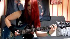 Garota solando Metallica:videos de musicas bandas de rock metal cover engraçados tiktok youtube cute fofos para status Guitar Scales Charts, Guitar Chord Chart, Guitar Tabs Songs, Guitar Chords For Songs, Cool Music Videos, Good Music, Metallica, Crying Aesthetic, Rock Band Posters