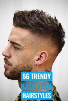56 Trendy Bald Fade with Beard Ideas – Men's Hairstyles and Beard Models Skin Fade With Beard, Short Hair With Beard, Mens Hairstyles Fade, Haircuts For Men, Fade With Part, Bald Taper Fade, Beard Line, High Fade Haircut, Beard Ideas
