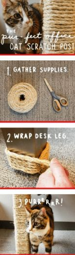 Homemade Cat Scratching Post | 25 Adorable DIY Projects You and Your Pet Will Be