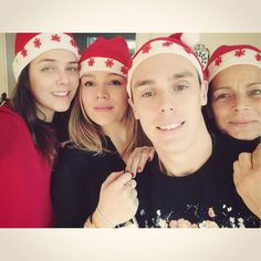 Princess Stephanie with her children Pauline, Camille and Louis - Christmas 2014