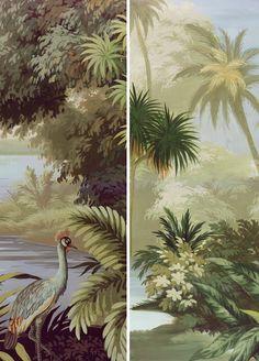 Ananbô - Collection 2016 Les rivages de l'Ukewéré - Papier peint panoramique