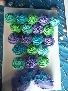 Cupcakes Cakes Birthday Mermaid Ideas For 2019 Mermaid Theme Birthday, Little Mermaid Birthday, Little Mermaid Parties, Mermaid Baby Showers, Baby Shower Fun, 6th Birthday Parties, Birthday Fun, Birthday Ideas, Daughter Birthday