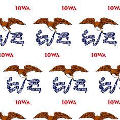 Smartphone Case - State Flag of Iowa - Patchwork Emblem