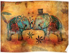 Redbubble Vintage Elephants