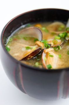 "Asari Miso Soup. Here in Singapore, we actually colloquially (well, at least in my family) call these manila clams ""la-la"". I have no idea why, but the sweetness of the clams will definitely work well with the savoriness of the miso soup."