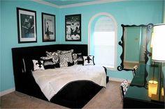 Great room idea! Especially love the Audrey Hepburn poster!