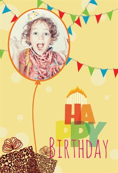 """""""Celebrating You"""" printable card. Customize, add text and photos. Print for free!"""