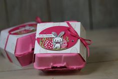 Freitagsvideo/Eierkarton färben und dekorieren mit Produkten von Stampin' Up!
