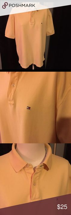 Vintage Tommy Hilfiger Polo Vintage Tommy Hilfiger Polo It's Bright Yellow no stains or rips Tommy Hilfiger Shirts Polos