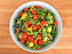 Grilled Vegetable Salad from Tori Avey #healthy #summer #recipe