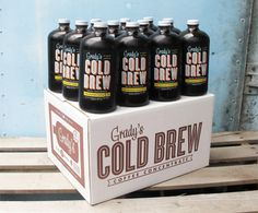Grady's Cold Brew Office Crate: 12 Count 32 oz Bottles