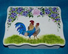 Check out our WOODEN ROOSTER selection for the very best in unique or custom, handmade pieces from our shops. Wedding Keepsake Boxes, Wooden Keepsake Box, Wedding Keepsakes, Decoupage Box, Wedding In The Woods, Vintage Marketplace, Handmade Items, Hand Painted, Roosters