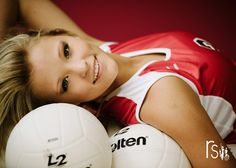 Close up volleyball pic! I love this idea with the posing! Volleyball Poses, Volleyball Senior Pictures, Female Volleyball Players, Women Volleyball, Photography Senior Pictures, Teen Photography, Senior Photos, Senior Portraits, Volleyball Photography