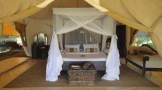 Cottar's 1920's Camp is a safari camp near Masai Mara National Park in Kenya. Doesn't it look romantic?