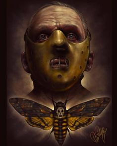 🎬 The Silence of the Lambs -Director: Jonathan Demme Horror Villains, Horror Movie Characters, Horror Movie Posters, Movie Poster Art, Film Posters, Horror Icons, Horror Comics, Horror Drawing, Evil Art