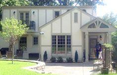 Tudor Lite - Exterior Paint Colors - The Decorologist Tudor House Exterior, Small House Exteriors, House Paint Exterior, Exterior Homes, Exterior Color Schemes, Exterior Paint Colors, Exterior House Colors, Paint Colours, Tudor Style Homes