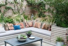 12 Backyard Cafe Ideas 10 Outdoor Seating Ideas To Sit Back And Relax On This Summer with regard to backyard cafe ideas Built In Garden Seating, Deck Seating, Cafe Seating, Corner Seating, Backyard Seating, Outdoor Seating Areas, Seating Plans, Garden Seating Areas, Corner Patio Ideas