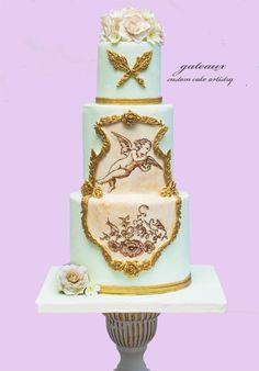 Rococo+Cupid+cake+-+Cake+by+Yvonne+Janowski