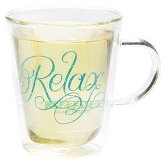 Vessel Relax Double Wall Glass Mug : glass