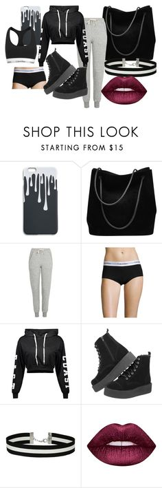 """""""Casual and Hot"""" by klb12-love on Polyvore featuring Gucci, Topshop, Calvin Klein Underwear, Miss Selfridge, Lime Crime and Calvin Klein"""