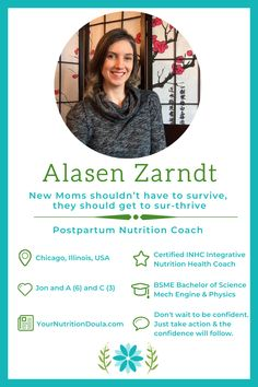 Are you struggling to maintain your ideal weight, suffering from postpartum depression or going through life as mombie? Your Nutrition Doula to the rescue! Alasen Zarndt, Your Nutrition Doula dishes out amazing advice in this interview. Mom Hacks, Baby Hacks, Mom Advice, Parenting Advice, Postpartum Diet, Wheel Of Life, Dear Parents, Single Moms, Postpartum Depression