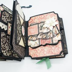 Album Maker, Book Maker, Memory Album, Memory Books, Handmade Journals, Handmade Books, Tattered Lace Cards, Mini Album Tutorial, Mini Albums Scrap
