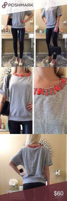 FAB TOP! 👑 Gorgeous Top bought on Posh - Brand new with tags. Unfortunately it didn't fit me. 😪- It's Fabulous and soft high end quality material with the pretty neckline detail 💟👑👑👑 Tops