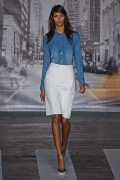 Work Wardrobe Remix: easy update dkny spring 2013
